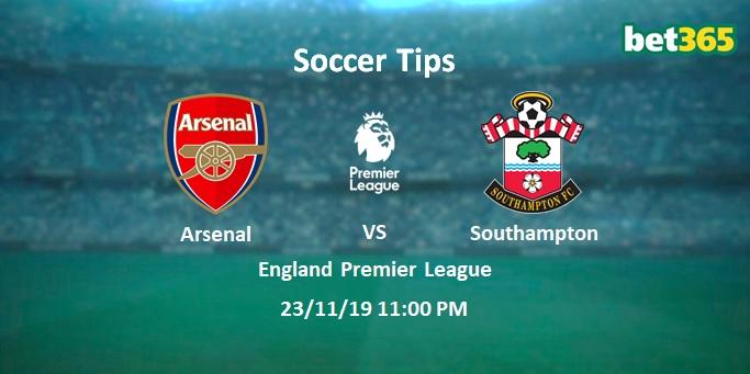 Arsenal vs Southampton Prediction Bet Tips Preview 23/11/19